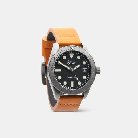 Szanto Vintage Dive Watch with IP Gun Gray Plating - Dive Manchester