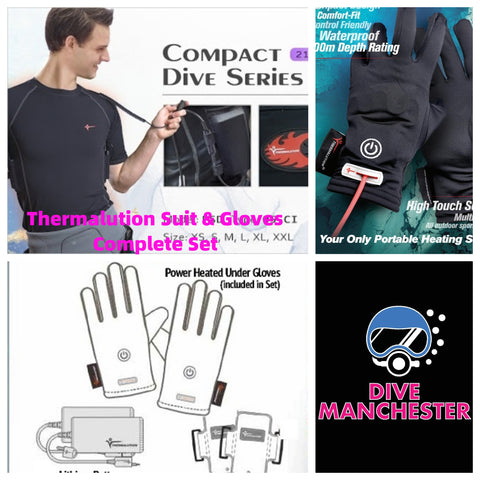 Thermalution Heating Suits Gloves Complete Set at Dive Manchester
