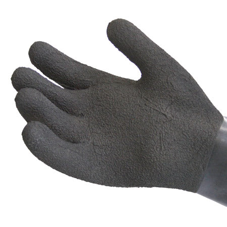 Black Textured Heavyweight Latex Gloves - Dive Manchester