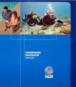PADI Underwater Navigation Specialty Manual