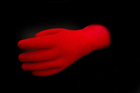 KUBI Red Textured Gloves at Dive Manchester. Heavy Duty Gloves
