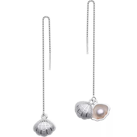 925 Sterling Silver Freshwater Pearl Shell Earrings