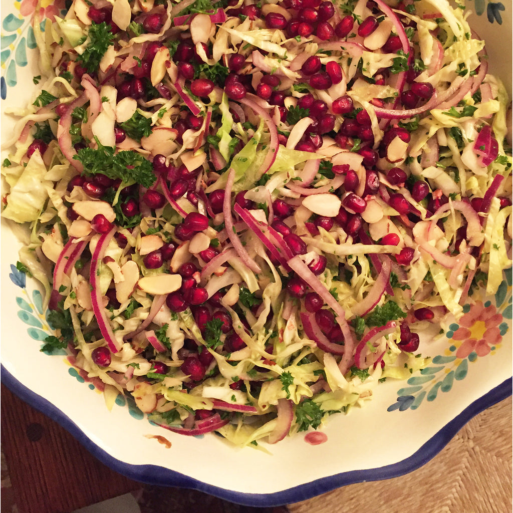 Bursting with Flavor: Crunchy Slaw with Pomegranate Arils