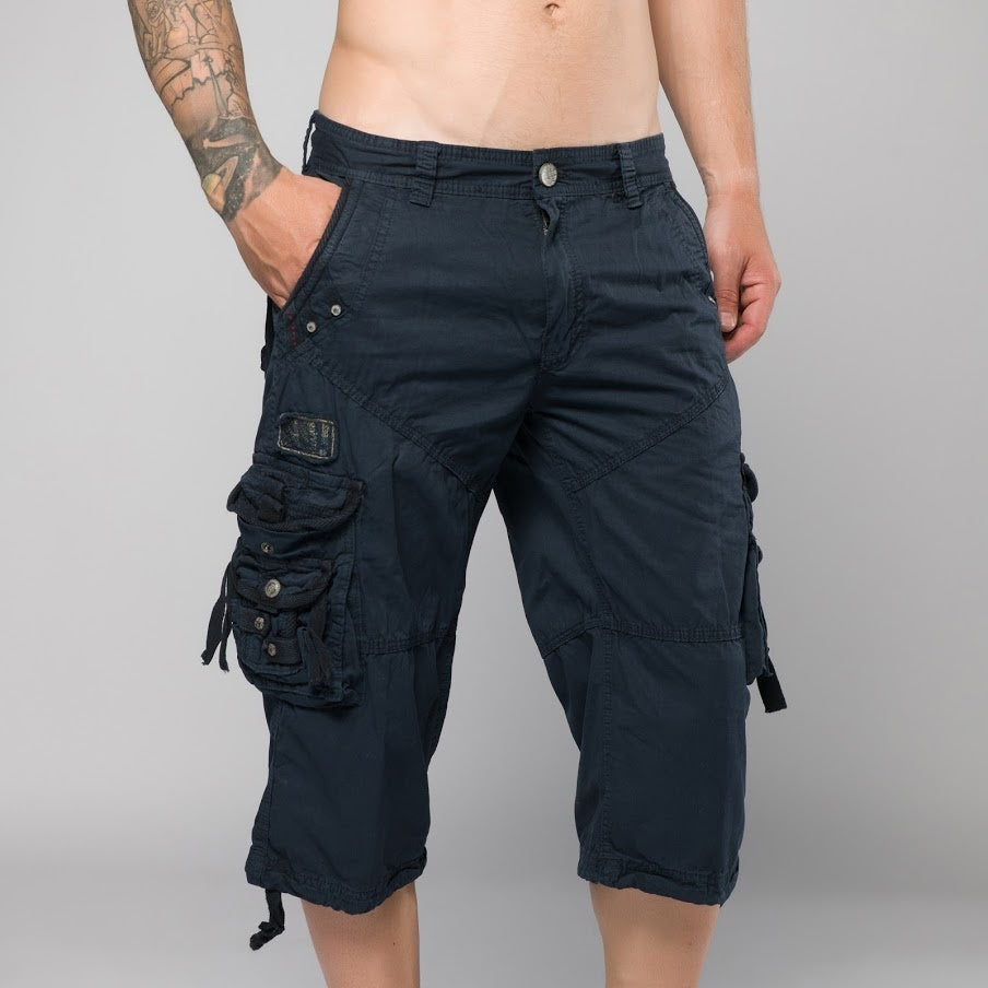 Moises Dark Blue Cargo Shorts