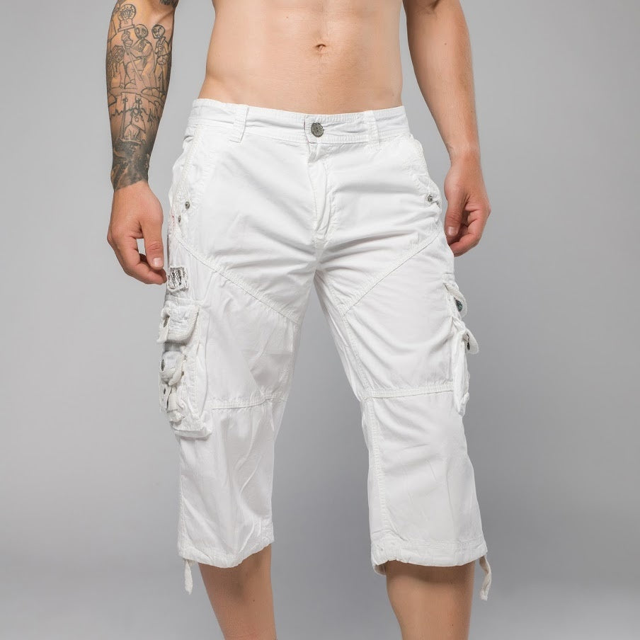 Patel White Cargo Shorts