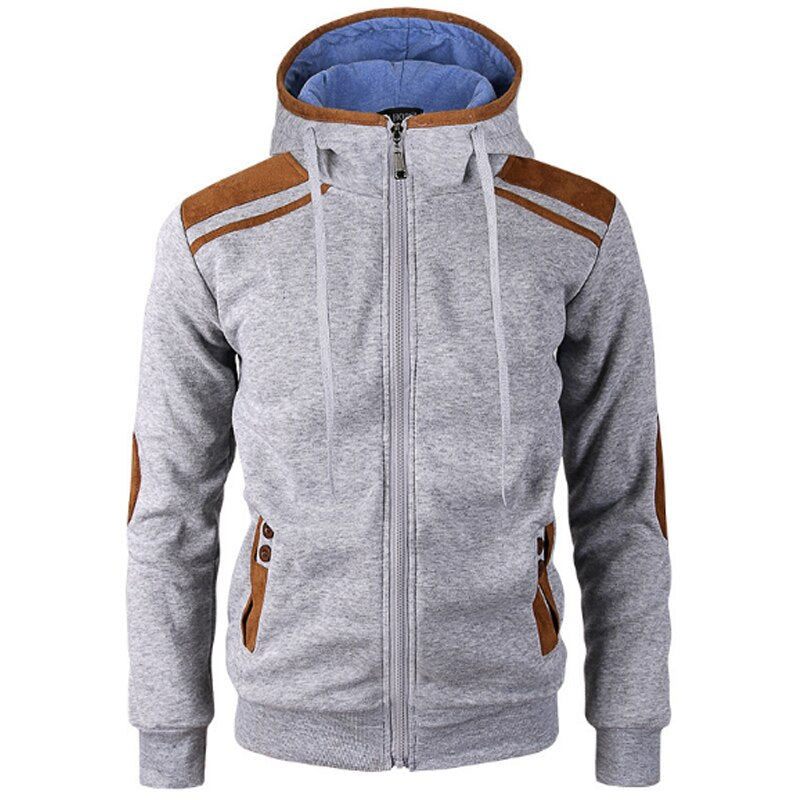 Regural Fit Zip Up Hoodie