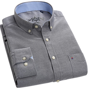 Solid Regular Fit Button-Down Shirt