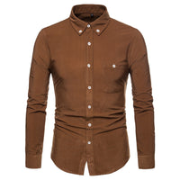Solid Corduroy Button-Down Shirt