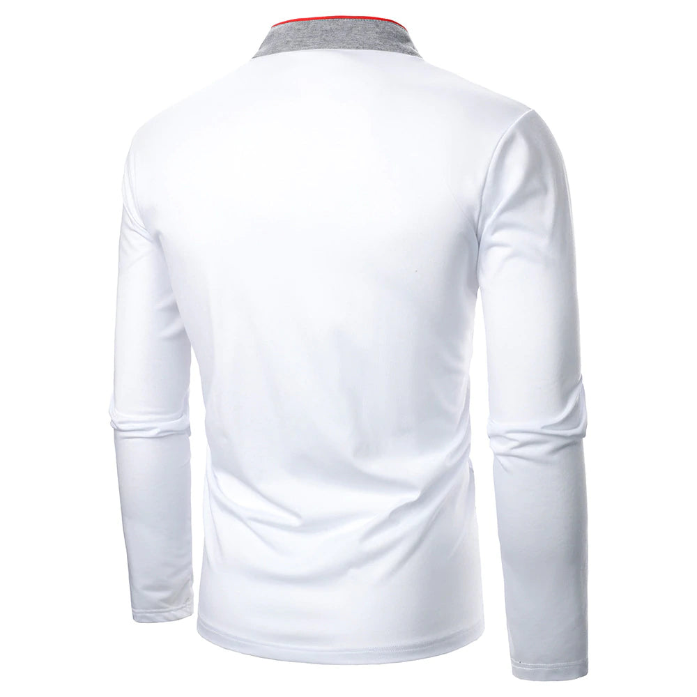 Voguish Long Sleeve Polo Shirt