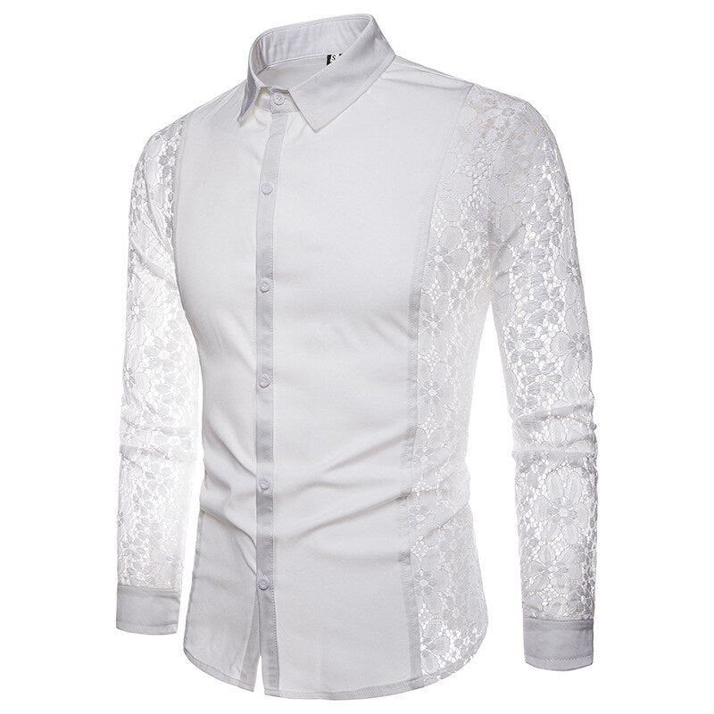 High Quality Lace Sleeve Shirt