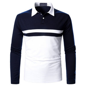 Contrast Long Sleeve Polo Shirt