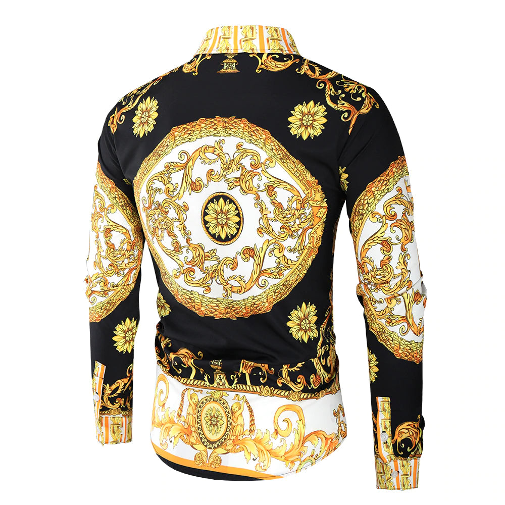 Luxury Royal Printed Button Shirt