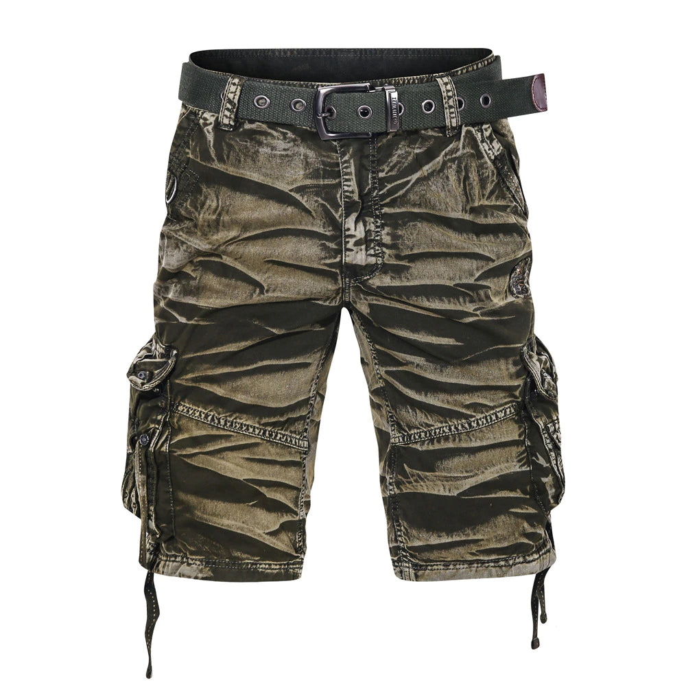 Loose Pattern Cargo Shorts