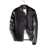 Leather Sleeve Jacket