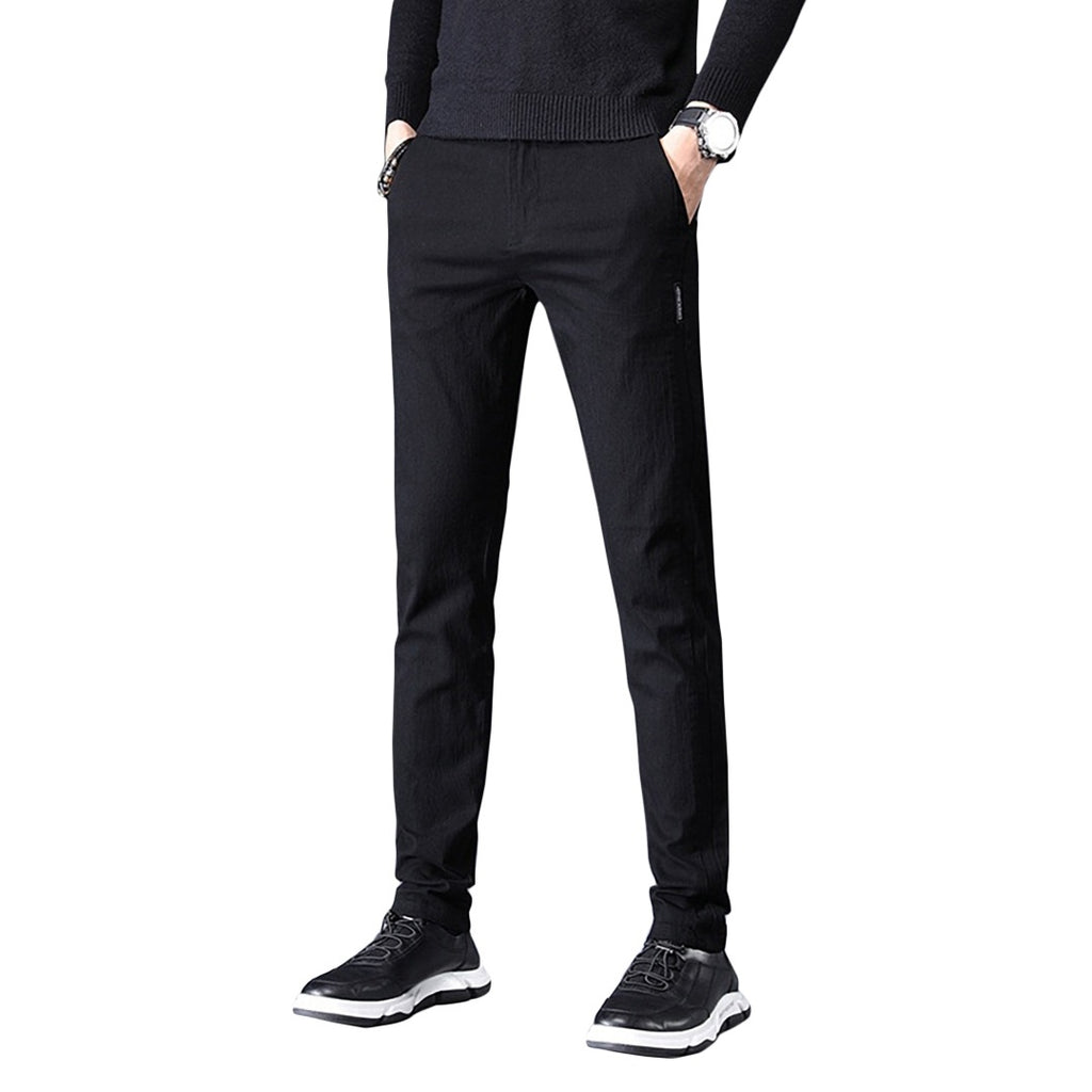 Plain Slim-Fit Pants