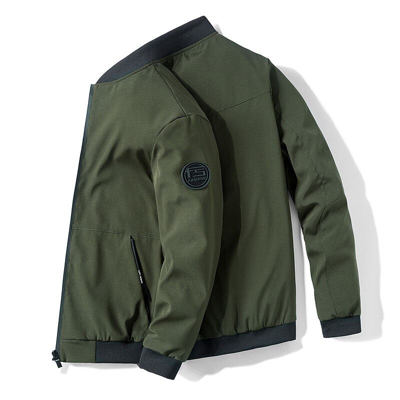 Trendy Zip-Up Bomber Jacket