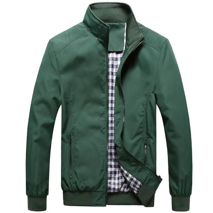 Stand Collar Bomber Jacket