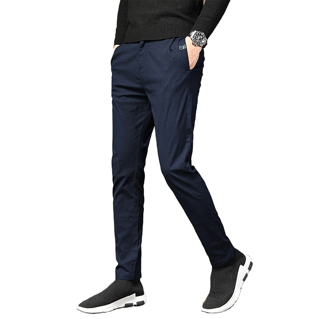 Solid Slim Sport Pants