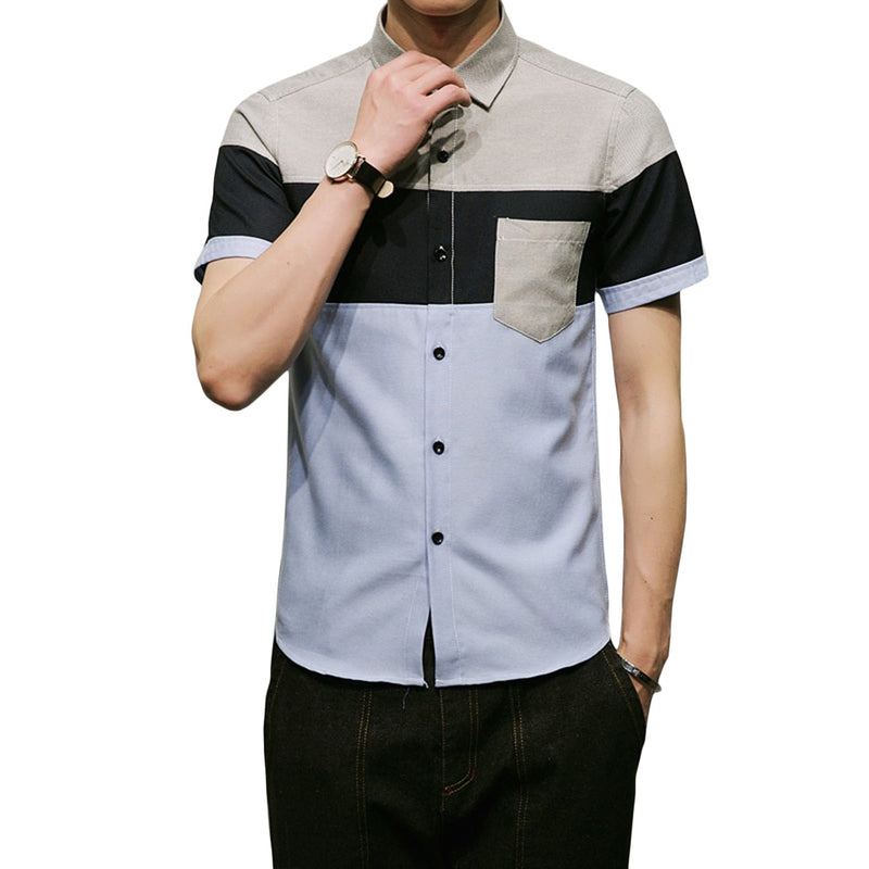 Colorblock Short Sleeve Shirt