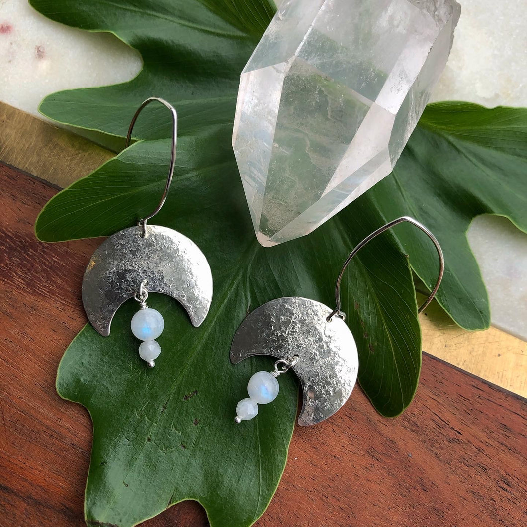 sterling moonstone earrings
