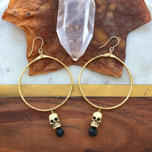 skull hoops (sterling option available)