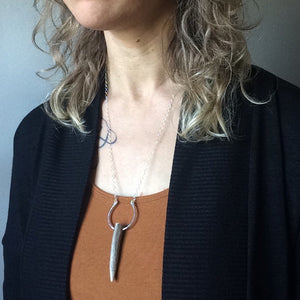 geometric antler necklace