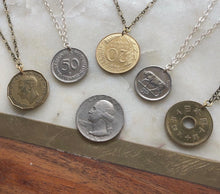Load image into Gallery viewer, vintage coin necklace