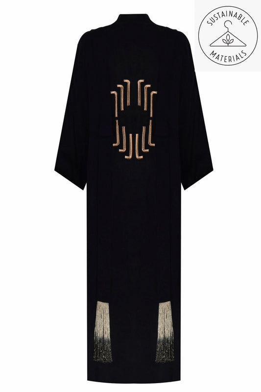 JILDA - BLACK/ART DECO EMBROIDERY