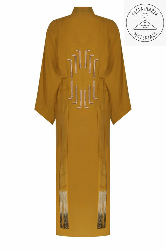 JILDA - MUSTARD YELLOW/ART DECO EMBROIDERY