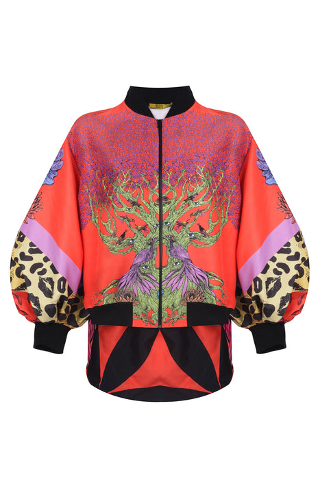 LIFE IS WILD AND BEAUTIFUL BOMBER JACKET