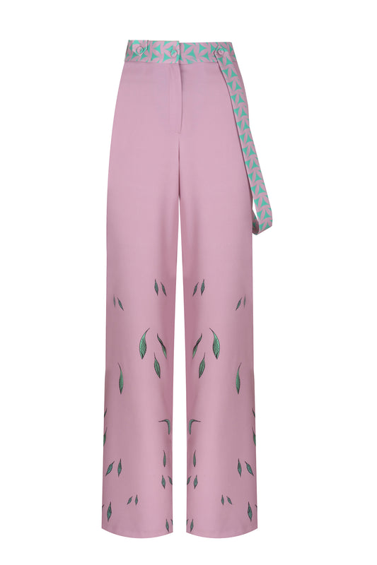 ANNIE HALL - MINT PINK FLOWER OF LIFE TROUSER