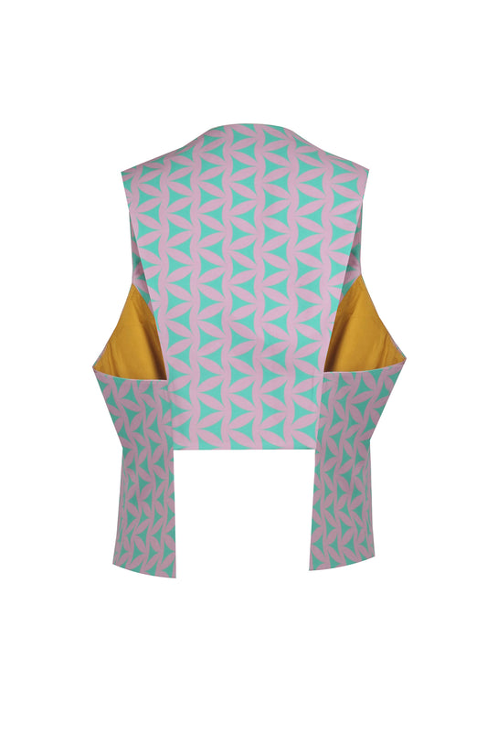DIANE - MINT PINK FLOWER OF LIFE VEST