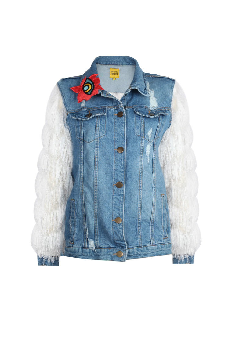 BLUE LOTUS JEAN JACKET