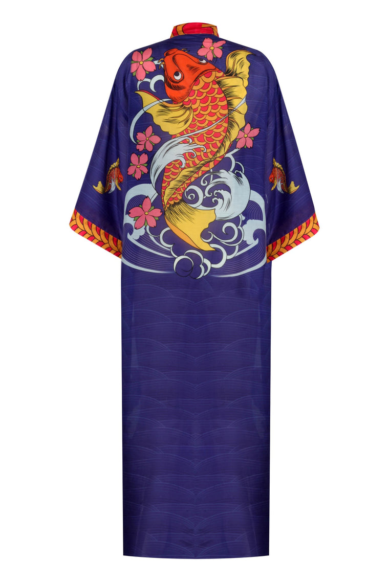 Cotton Silk Maxi Classic Sleeved Kimono 226 CS