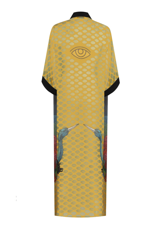 Classic Sleeve Viscone Long Kimono - Kill Bill