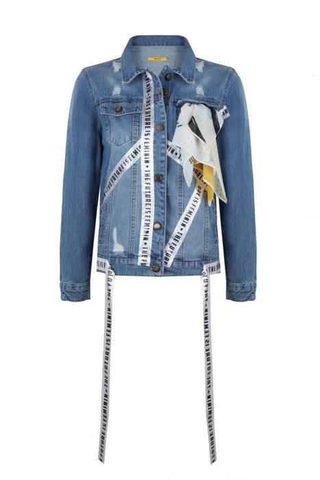 Blue Feminin Jean Jacket