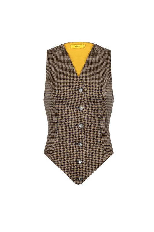 CHECKERED WOOL VEST