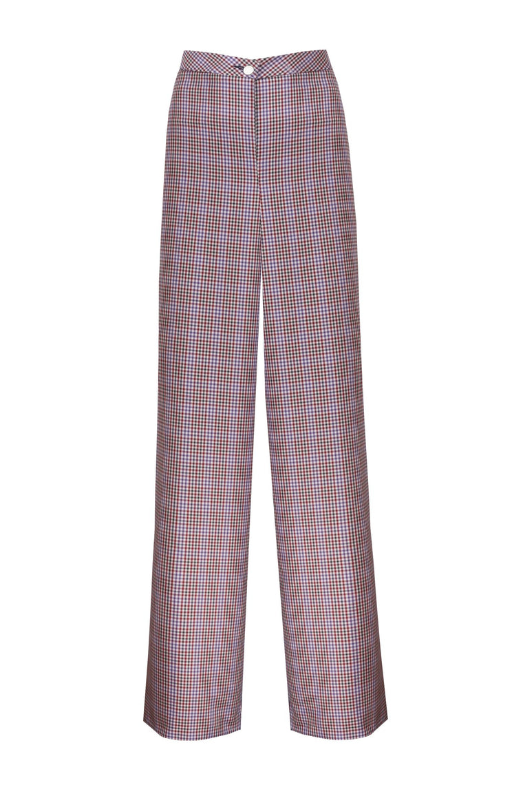Mixed Color Mini Checked Trousers - 311