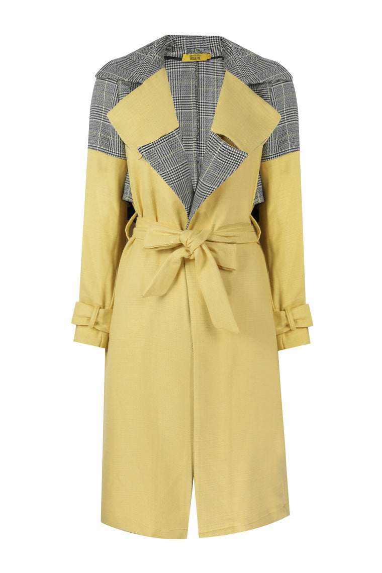 CUTTED - YELLOW TRENCHCOAT