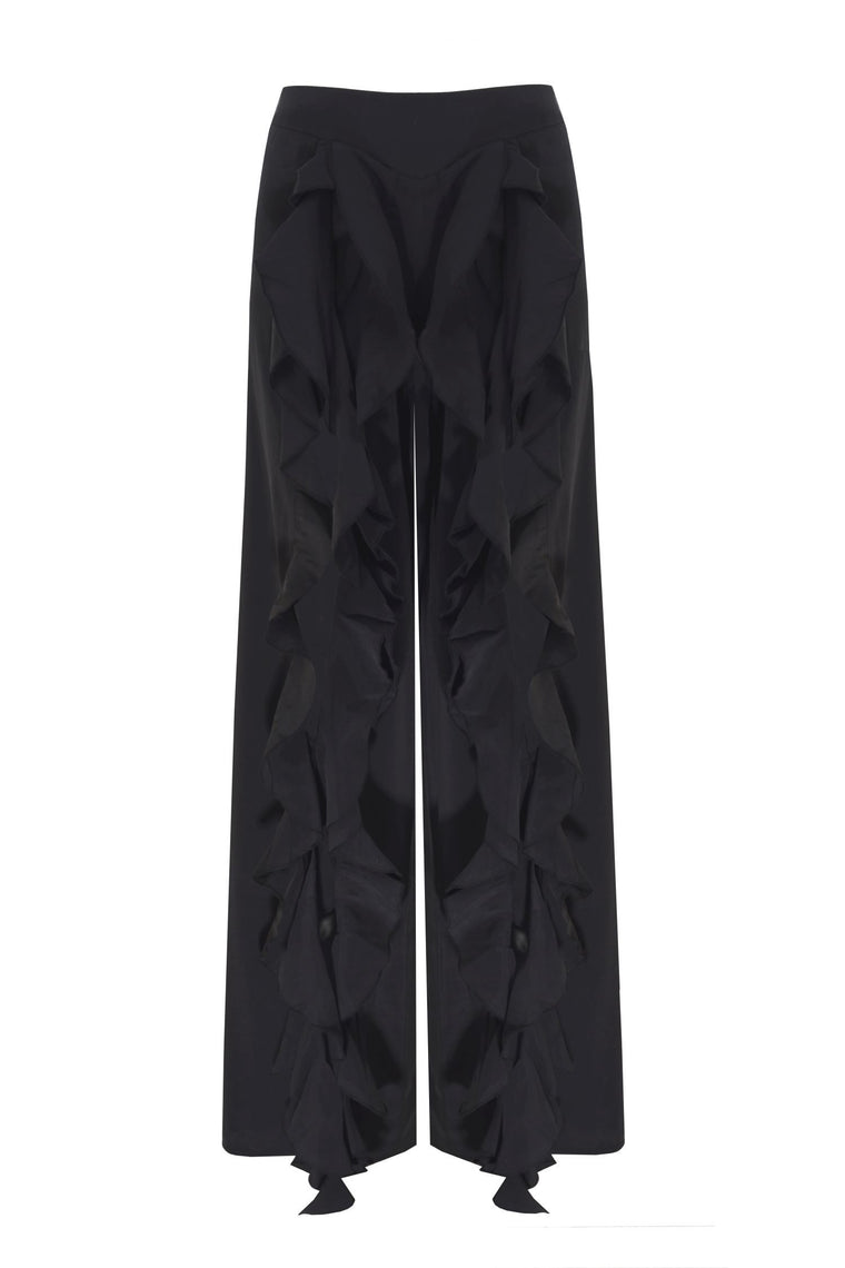 Flared Black Trousers - 108C