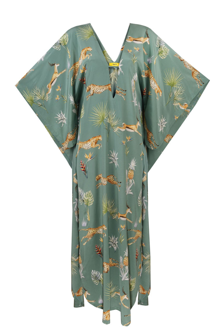Silk Butterfly Dress Jungle- 239S