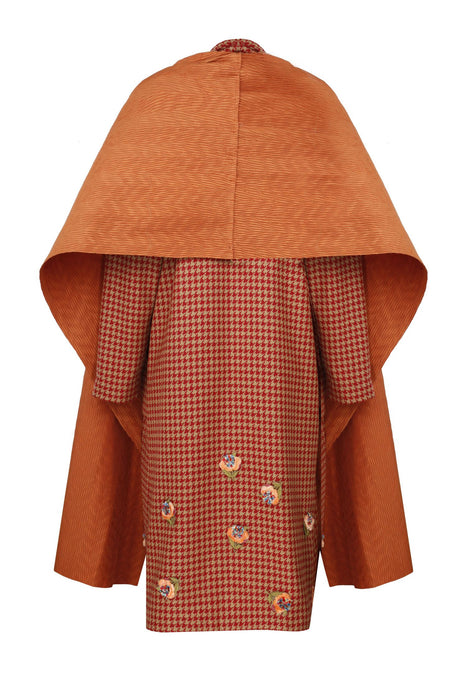 Pleated Neck Coat