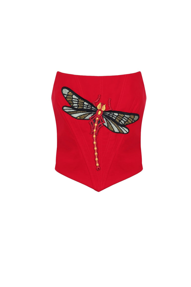Dragonfly Red Bustier - 331D