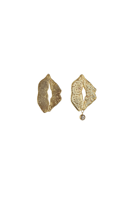 GOLD BIG LIP EARING