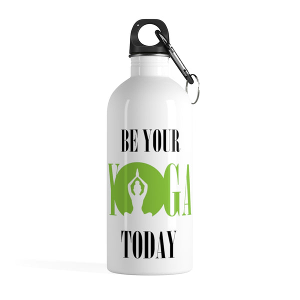 LotusMats Stainless Steel Water Bottle Be Your Yoga Today
