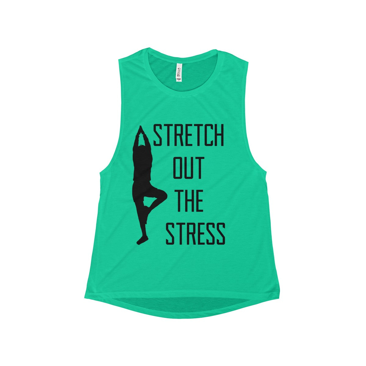 Women's Flowy Scoop Muscle Tank Stretch Out Your Stress