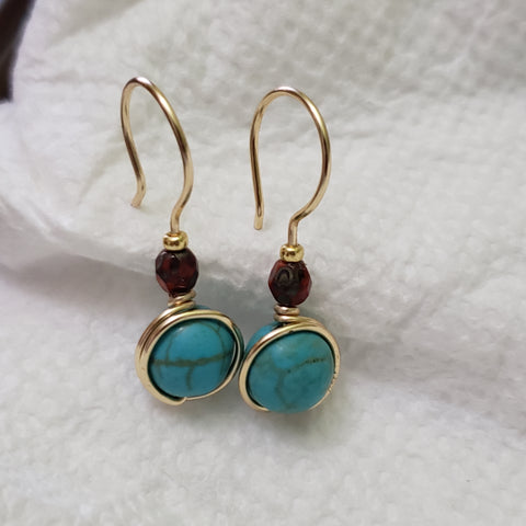 Tourquose earrings