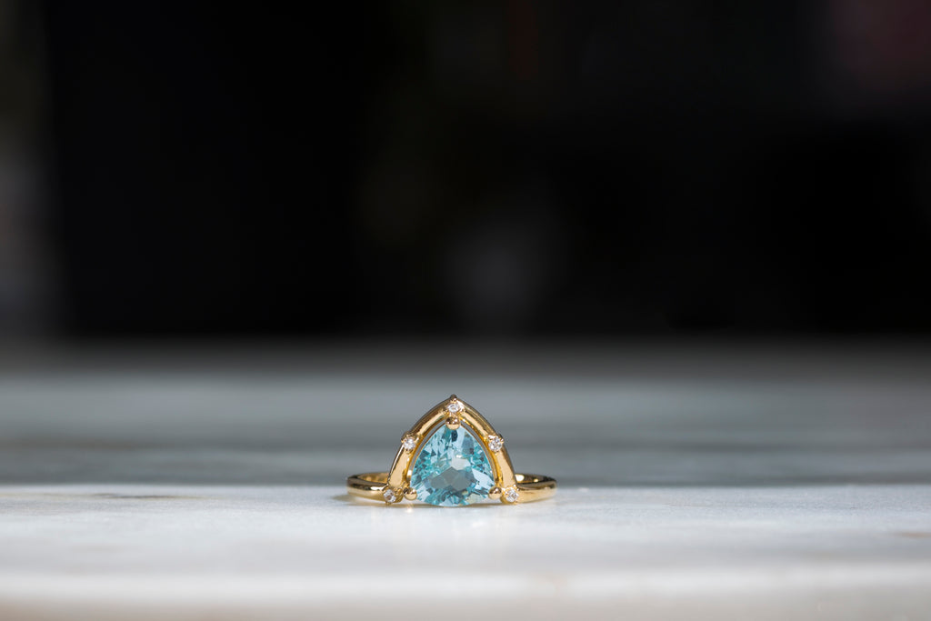 Orbit Ring with Blue Topaz