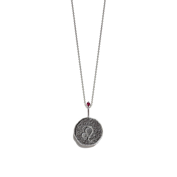 LEO | The Silver Zodiac Necklace