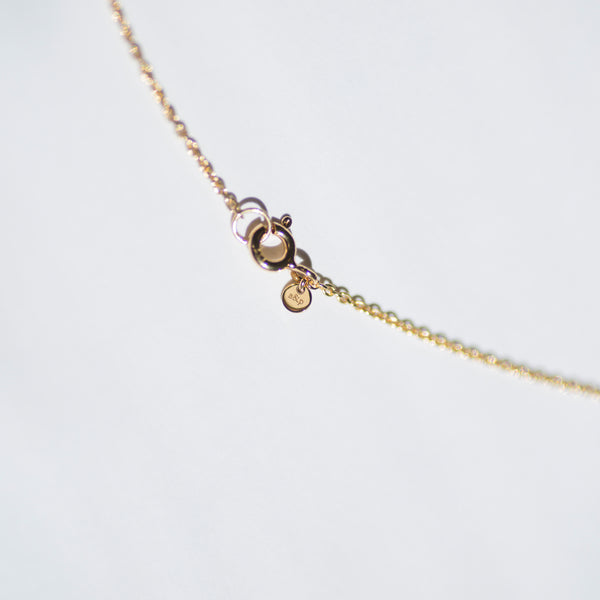 Solstizio Del Cosmo | Cosmos Solstice Shield Necklace | Gold & Rainbow Moonstone